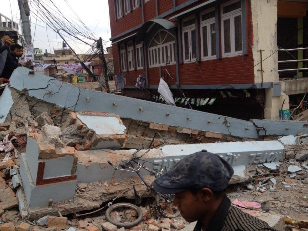 지진으로 초토화된 네팔 현지의 모습 - 위키미디어 제공